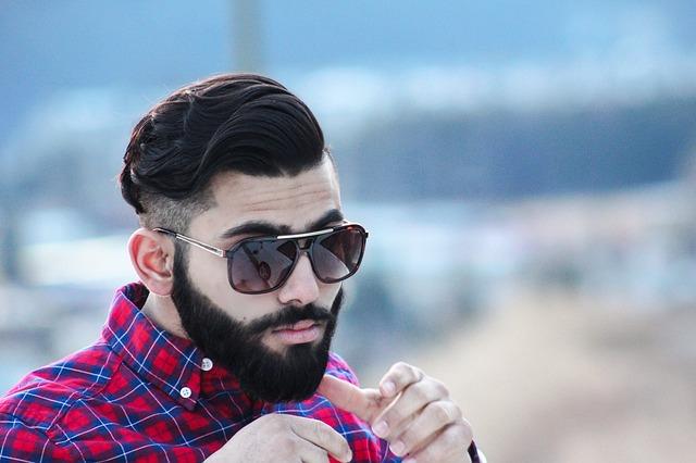 muž, brýle, košile