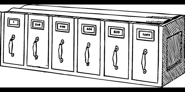 skříňky kartotéky