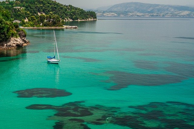 Moře, příroda, loď